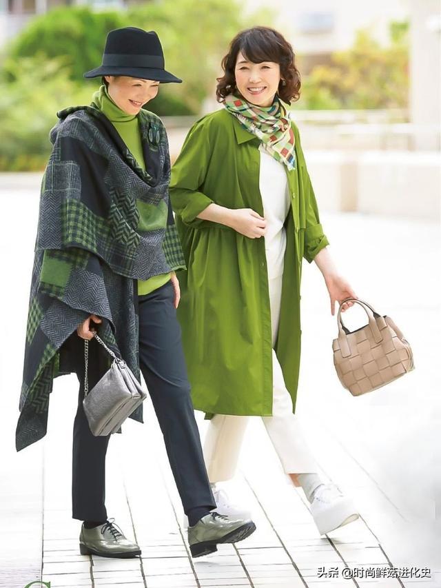 60岁以上的女性,秋季尽量少穿紧身裤!看看日本的家庭主妇。它们既时尚又优雅
