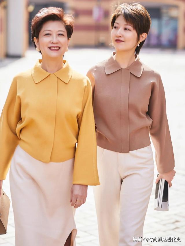 60多岁的女人,穿衣尽量别花花绿绿!教你减龄配色法,时髦好看